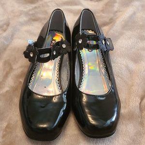 Girls black dress shoes size 3